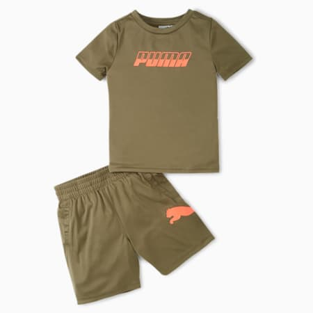 Speed Performance Tee + Shorts Infant + Toddler Set, BURNED OLIVE, small