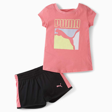 Tee+ Short Infant + Toddler Set, BUBBLE GUM, small