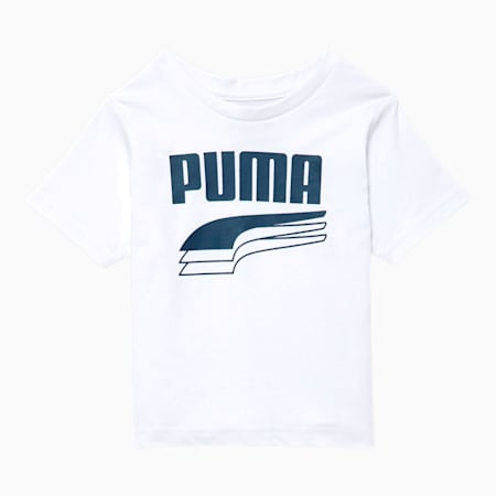 Rebel Bold Infant Graphic Tee, PUMA WHITE, small