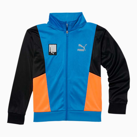 Tailored for Sport Boys' Tricot Track Jacket JR, PALACE BLUE, small