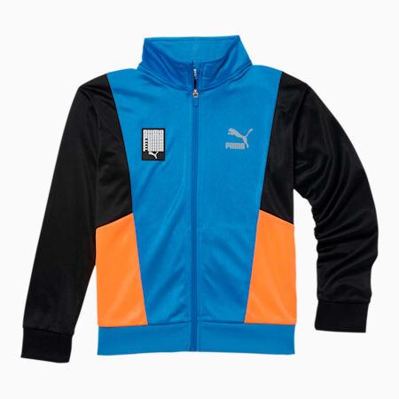 Chaqueta deportiva de tricot Tailored for Sport para niños JR, PALACE BLUE, pequeño