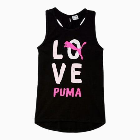 Alpha Girls' Cross Back Fashion Tank JR, PUMA BLACK, small