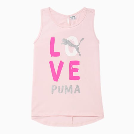 Camiseta sin mangas Alpha contiras cruzadas en la espaldade diseñador para niñas JR, CHERRY BLOSSOM, pequeño