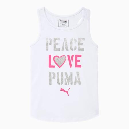 Alpha Girls' Racerback Tank JR, PUMA WHITE, small