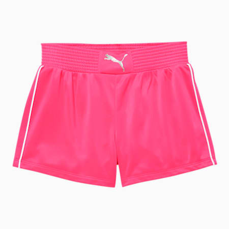 Alpha Girls' Tricot Fashion Shorts, FLUO PINK, small