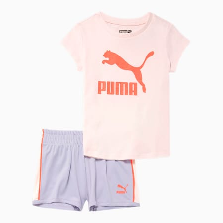Classics Tee + Short Infant + Toddler Set, ROSE WATER, small