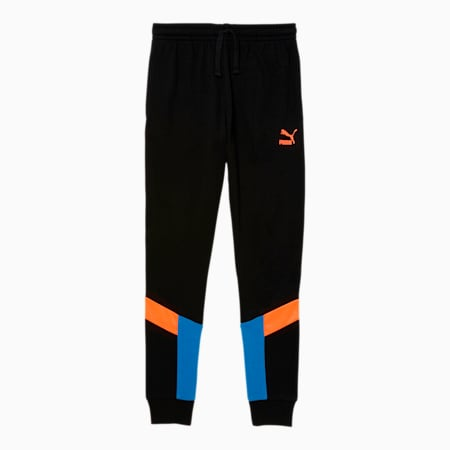 Iconic MCS Boys' French Terry Joggers JR, BLACK/MULTI, small