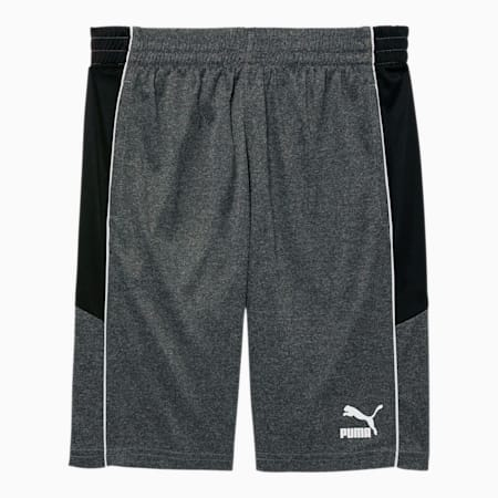 Iconic MCS Boys' Performance Shorts JR, CHARCOAL HEATHER, small