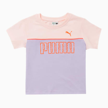 Graphic Injection Toddler Colorblocked Fashion Tee, PURPLE HEATHER, small