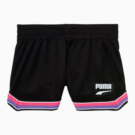 Downtown Toddler Mesh Fashion Shorts, PUMA BLACK, small