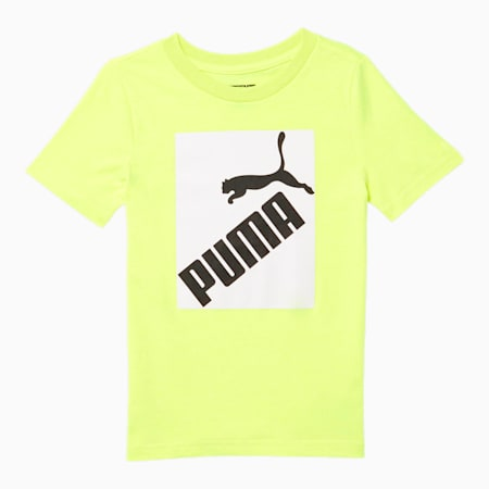 Amplified Little Kids' Graphic Tee, YELLOW ALERT, small