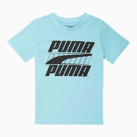 Camiseta estampada Speed para niños pequeños, AQUAMARINE, pequeño