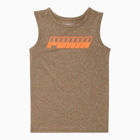 T-shirt ajusté performance chiné Speed,jeune enfant, OLIVE BRÛLÉE BRUYÈRE, petit
