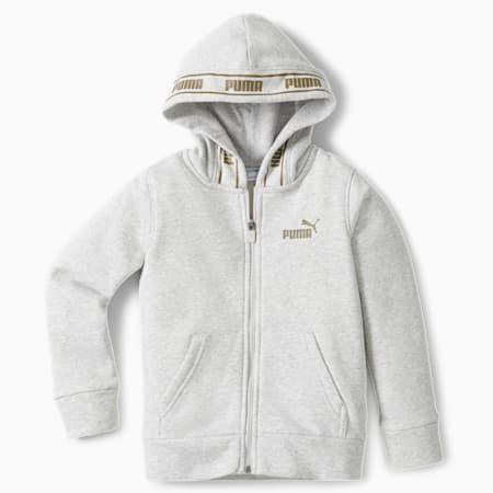 Chaqueta con capucha de polar con cierre completoNo.1Logo para niños pequeños, LT HEATHER GREY, pequeño