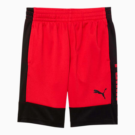 Rebel Bold Little Kids' Performance Shorts, HIGH RISK RED, small