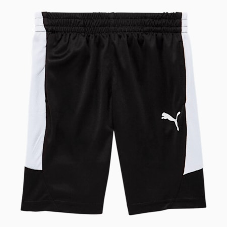 Rebel Little Kids' Performance Shorts, PUMA BLACK, small