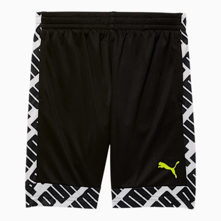 Graphic Blocked Little Kids' Performance Shorts, PUMA BLACK, small