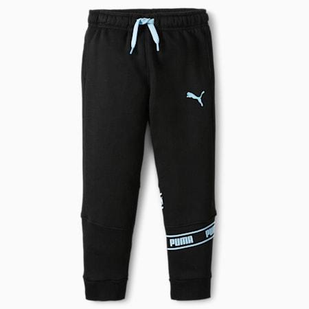 Pantalones de polar con logo N° 1 para niños pequeños, PUMA BLACK, pequeño