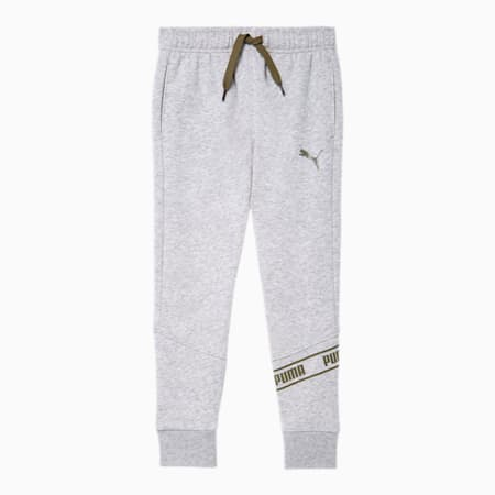 No.1 Logo Little Kids' Fleece Joggers, LT HEATHER GREY, small