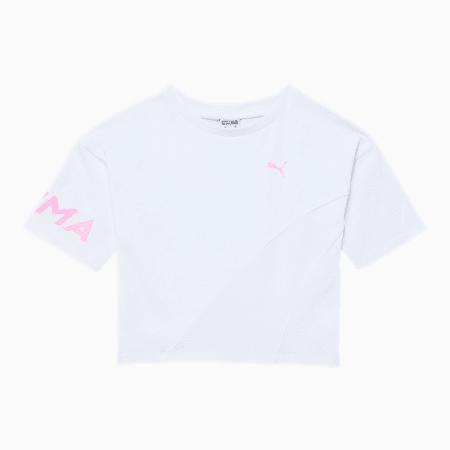 Evide Little Kids' Wide Sleeve Fashion Tee, PUMA WHITE, small
