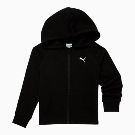 Sudadera de polar con capucha y cierre Modern Sports para niños pequeños, PUMA BLACK, pequeño