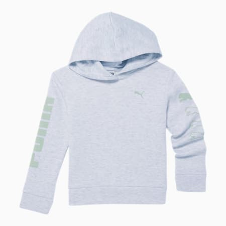 Rebel Little Kids' Fleece Hoodie, WHITE HEATHER, small