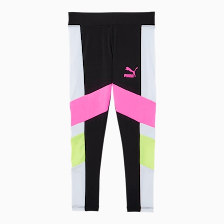 Tailored for Sport Little Kids' Colorblock Leggings, PUMA BLACK, small