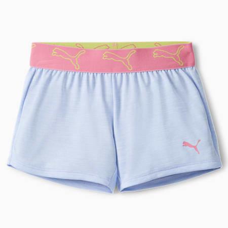 Shorts con pretina de jacquard y teñido espaciado Stay Bold para niños pequeños, TEÑIDO ESPACIADO PÚRPURA Y HEATHER, pequeño