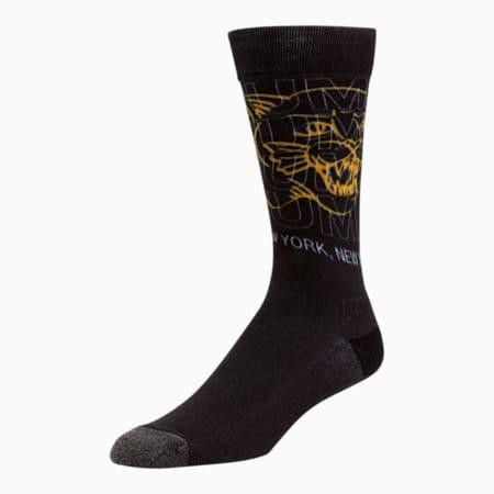 Calcetines con estampado3D para hombre [1 par], NEGRO, pequeño