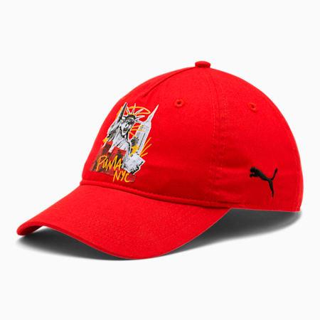 PUMA Empire Adjustable Dad Cap, RED, small