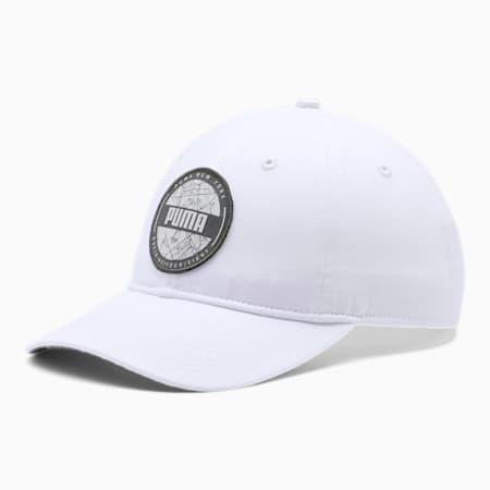 PUMA World Adjustable Dad Cap, WHITE TRADITIONAL, small