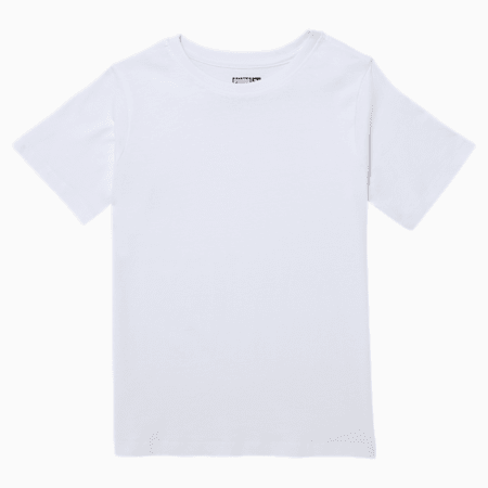 Blank Little Kids' Tee, WHITE, small