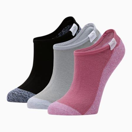 Chaussettes invisibles, femme [paquet de3], ROSE, petit