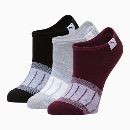 Chaussettes invisibles, femme [paquet de3], LT PASTEL GREY, petit