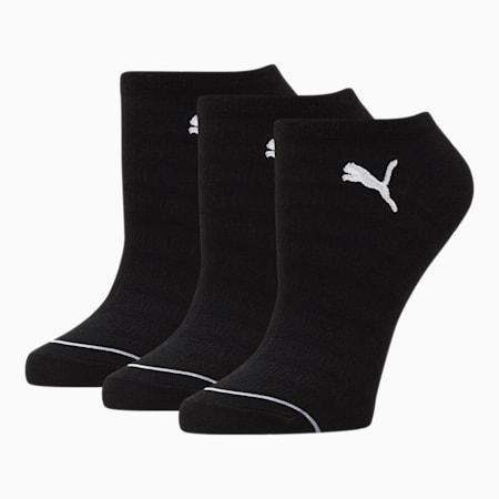 Chaussettes invisibles, femme [paquet de3], NOIR/BLANC, petit