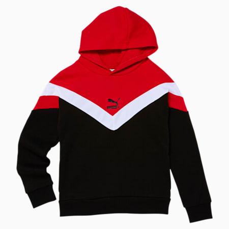 MCS Boys' Fleece Hoodie JR, PUMA BLACK, small