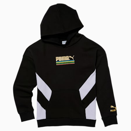 Tailored for Sport WH Boys' Hoodie JR, PUMA BLACK, small