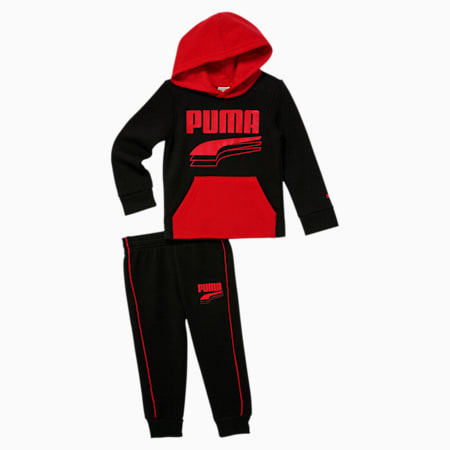 Toddler Hoodie + Jogger Set, PUMA BLACK, small