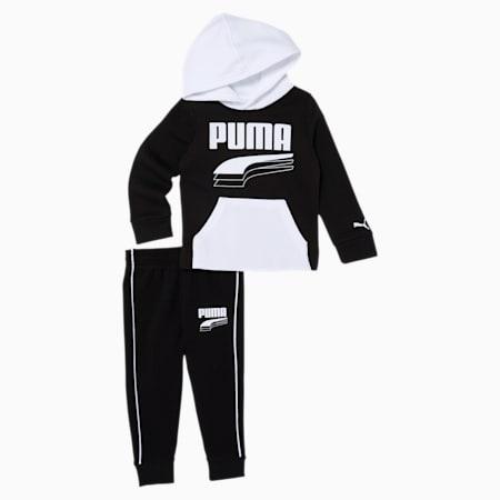 Infant + Toddler Hoodie + Jogger Set, PUMA BLACK, small