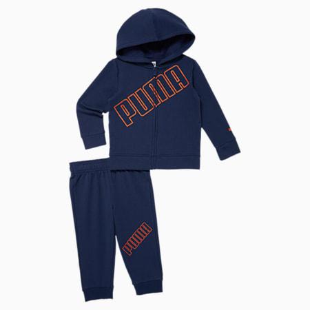 Fleece Hoodie + Jogger Toddler Set, MEDIEVAL BLUE, small