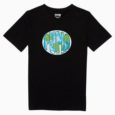PUMA Boys' Graphic Tee JR, PUMA BLACK, small
