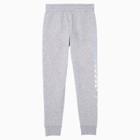 Pantalones de polar para correr Evide para niñas JR, LIGHT HEATHER GREY, pequeño