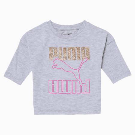 Rebel Toddler Fashion Top, WHITE HEATHER, small