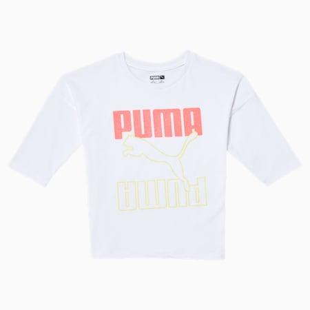 Rebel Girls' Fashion Top JR, PUMA WHITE, small