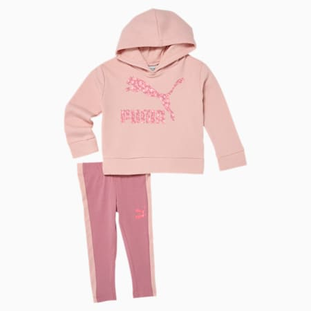 Classics Infant + Toddler Fleece Hoodie + Legging Set, PEACH SKIN, small
