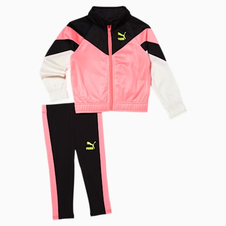 Tailored for Sport Wild Toddler Track Jacket + Legging Set, PUMA BLACK, small