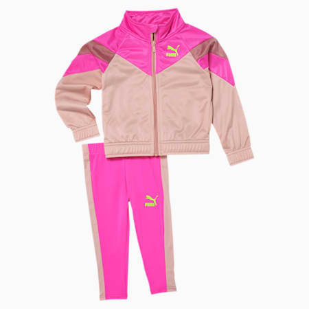 Tailored for Sport Wild Track Jacket + Legging Infant + Toddler Set, LUMINOUS PINK, small