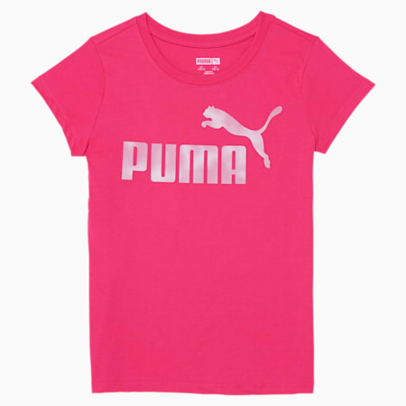 No. 1 Logo Girls' Graphic Tee JR, GLOWING PINK, small