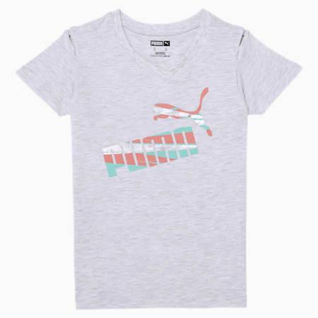 No.1 Logo Little Kids' Fashion Tee, WHITE HEATHER, small