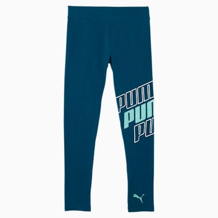 Modern Sports Girls' Leggings JR, DIGI BLUE, small